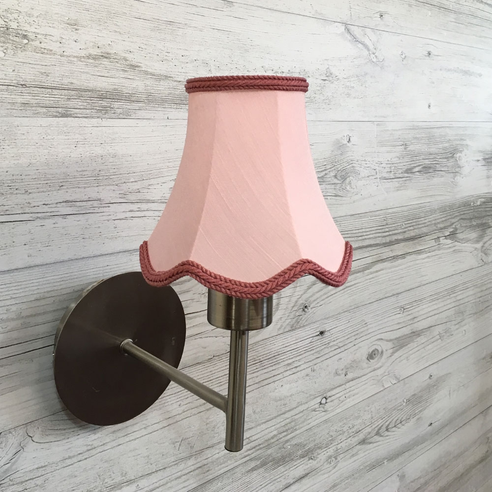 Scalloped Bowed Candle Pink Moire Imperial Lighting